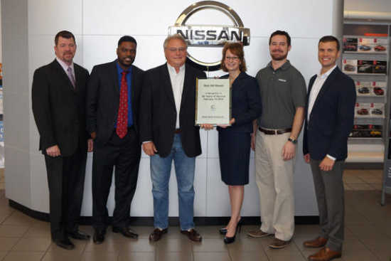 Rick Hill Nissan >> Local News Rick Hill Recognized For 30 Years Of Service 2