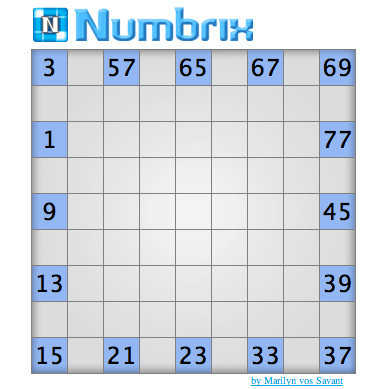 Play Parade's Numbrix Game