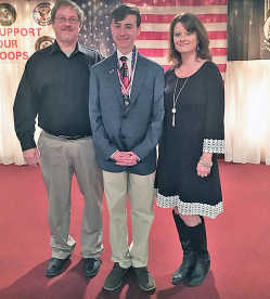 local news voice of democracy essay contest winners recognized  district 9 vod 2nd place winner jon mark castleman his oral essay to about 150 people present at the vfw post 4862 union city