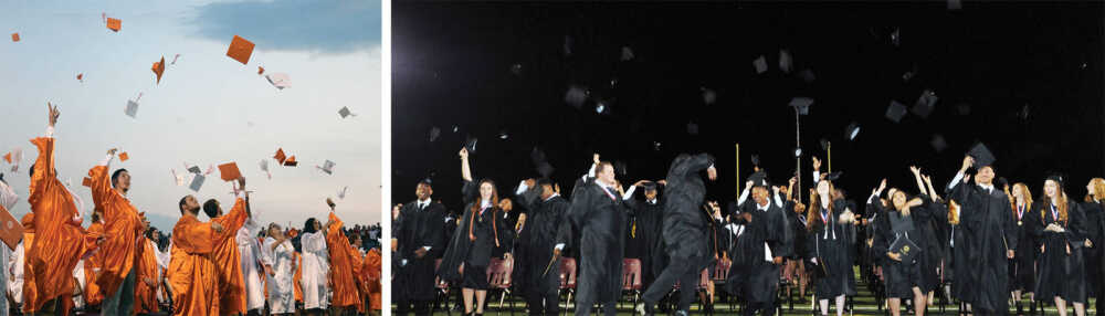 High schools hold graduation ceremonies