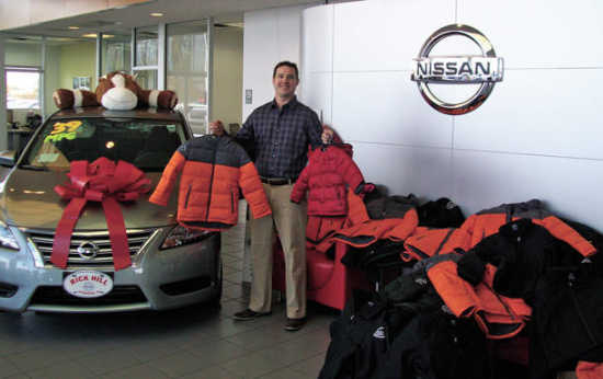 Rick Hill Nissan >> Local News Rick Hill Nissan Makes Donation To Coats For