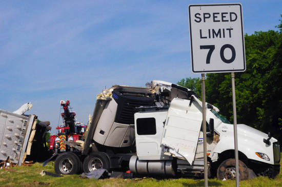 Local News: Semi driver transported to hospital following wreck on I